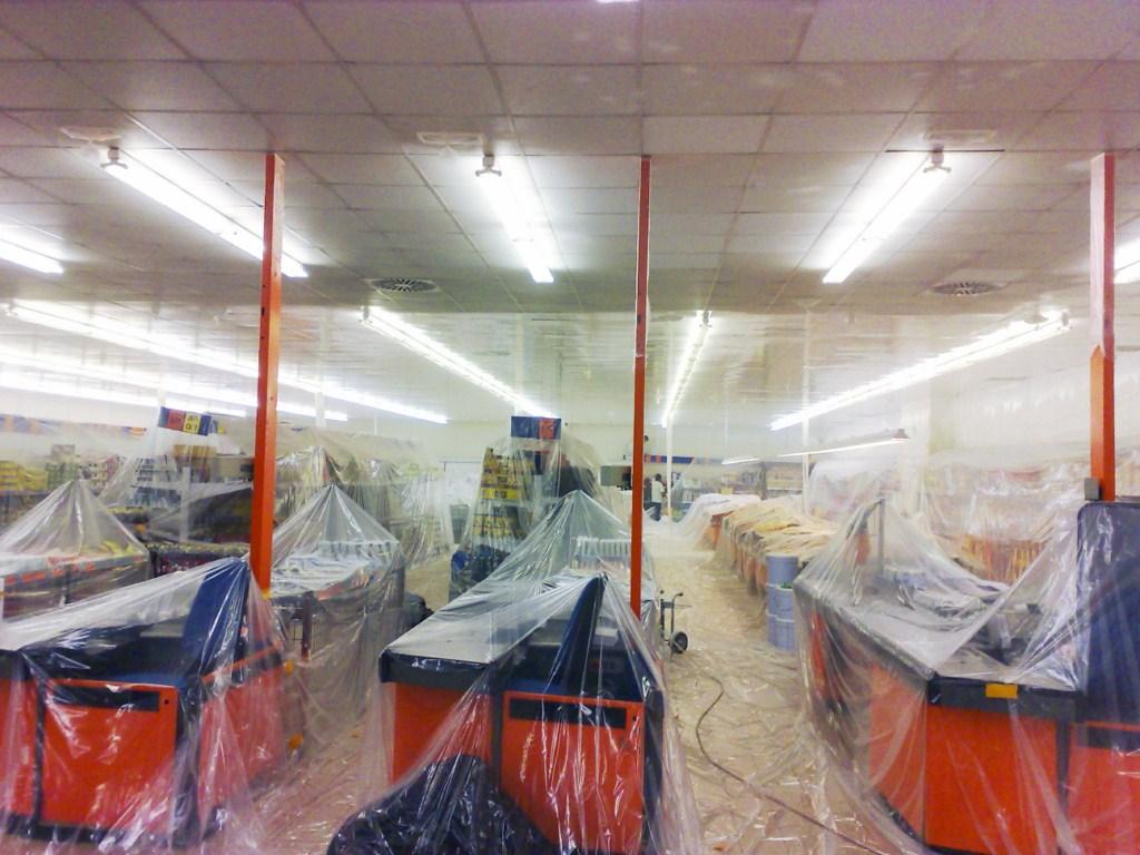 Protección previa con plástico | Fusión Innova